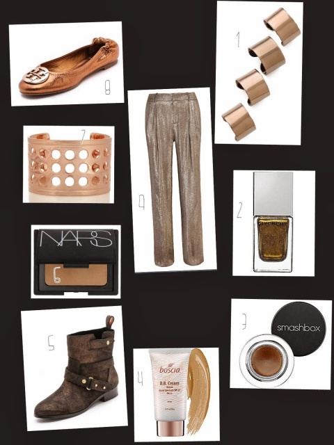 gold bronze accessories