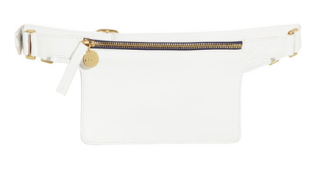 white leather belt bag