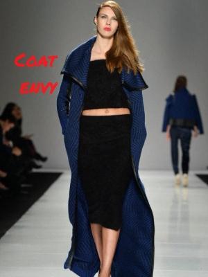 line knitwear coat