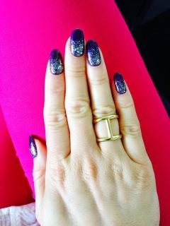 sparkle nail art