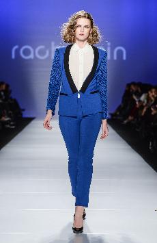 blue womans suit