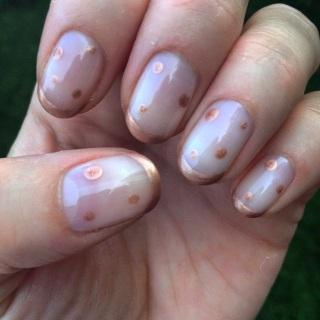 rose gold nail art