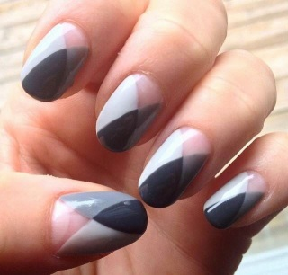shades of grey manicure